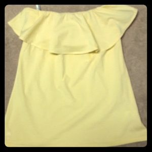 Lilly Pulitzer yellow strapless tank (M)